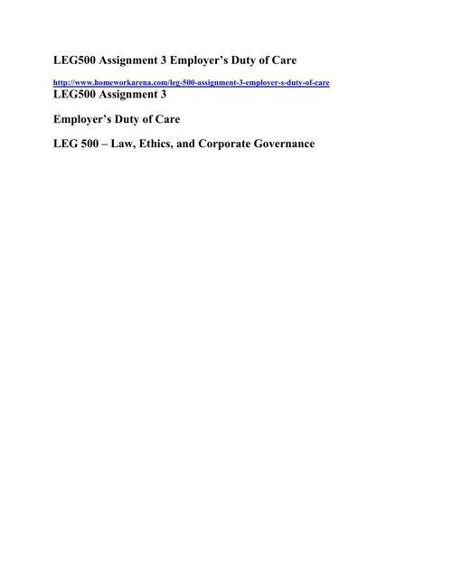 LEG 500 Final Exam Solution - Perfect Score