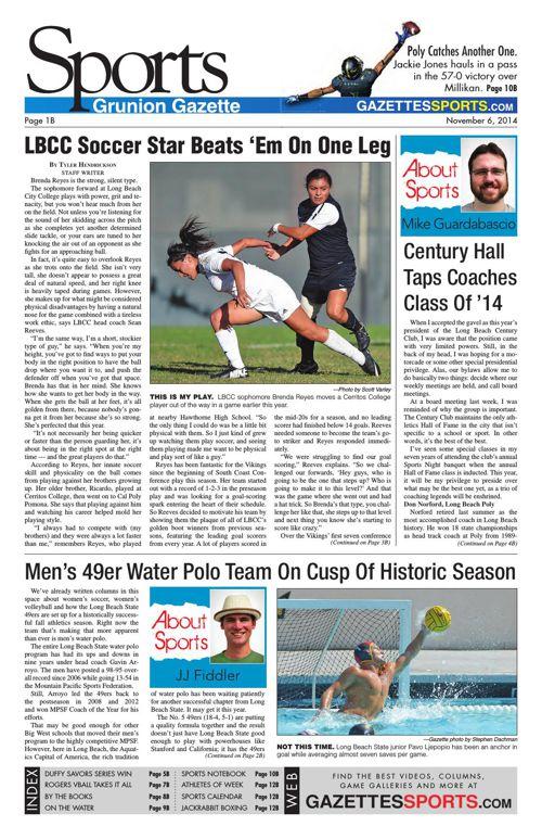 Gazette Sports | November 6, 2014