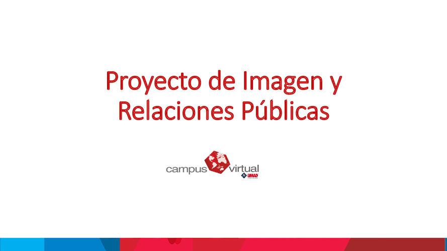 Proyecto de Imagen y Relaciones Públicas