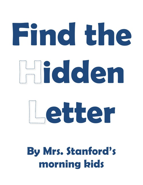 SY Stanford AM hidden letter book 2012-2013