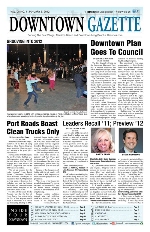 Downtown Gazette  |  January 6, 2012