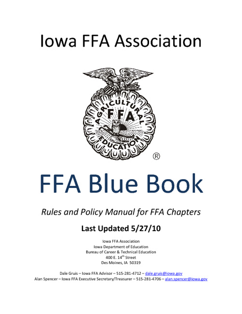 Iowa FFA Association Blue Book