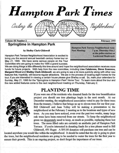 HPT Newsletter February 1995