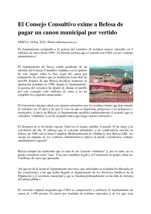 Noticia prensa-Huelva información 14/06/2012