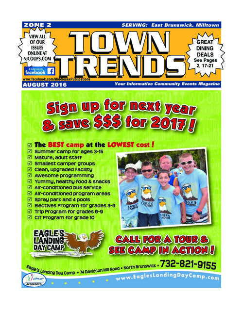 Town Trends - zone 2 - Aug. 2016