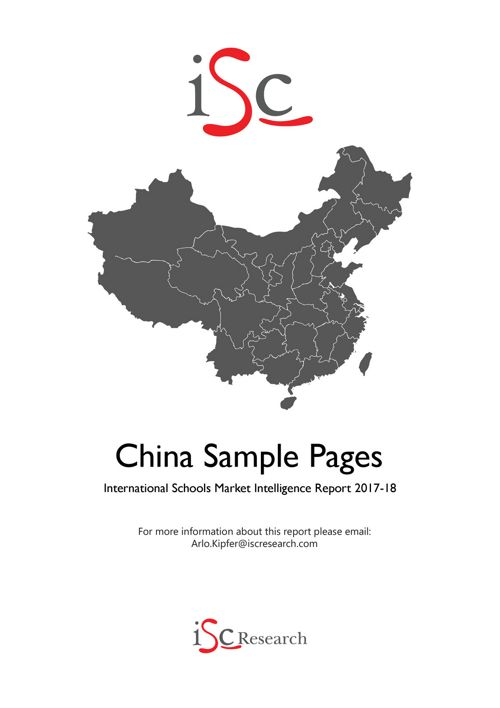 China Market Intelligence Report 2017-18 sample pages
