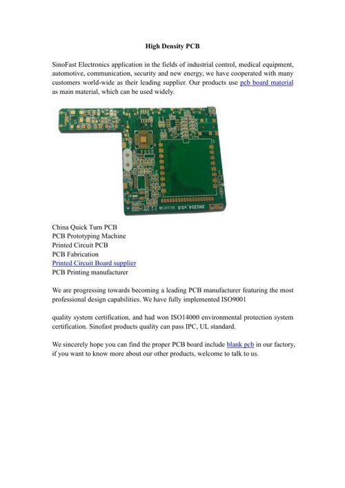 High Density PCB