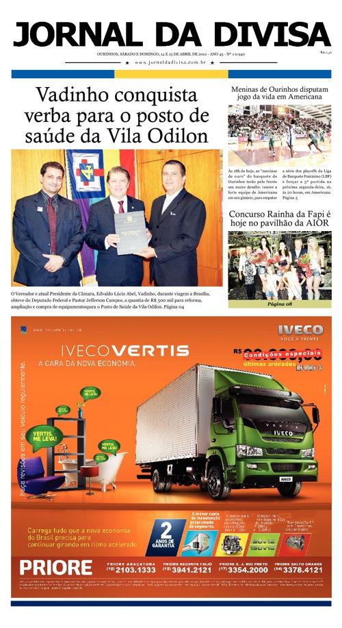 JORNAL DA DIVISA - Edição de 14 e 15 de Abril de 2012.