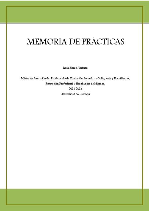 Memoria Prácticas