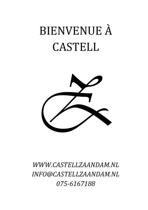 Menu Castell Bites & Steaks (français)