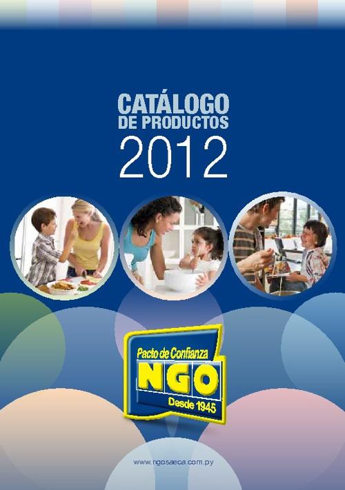 Catalogos NGOSAECA 2012