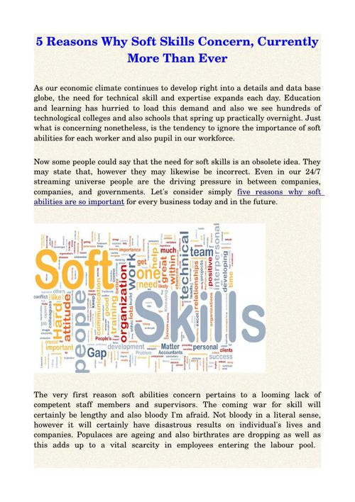 5 Reasons Why Soft Skills Concern, Currently More Than Ever