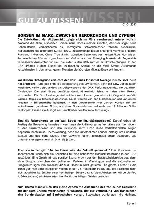 Marktbericht - Beispiel - www.martineberhard.de