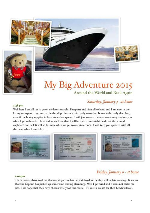 Stirling Bear Travel Journal - Around the world and back again