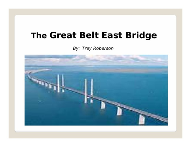 Bridge PowerPoint / Book