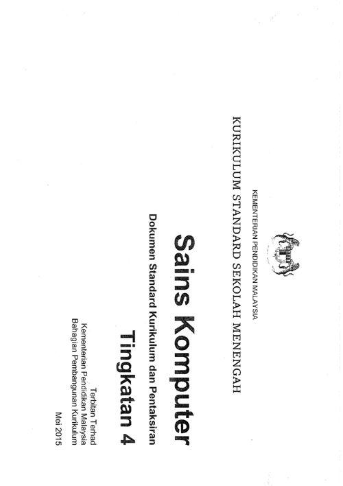DSKP KSSM SAINS KOMPUTER TINGKATAN 4