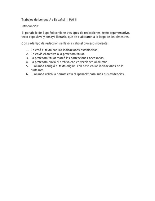 Trabajos de Lengua A español flipsnack