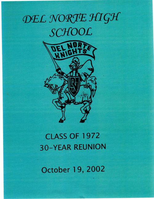 This is the booklet of information for the 30th Reunion