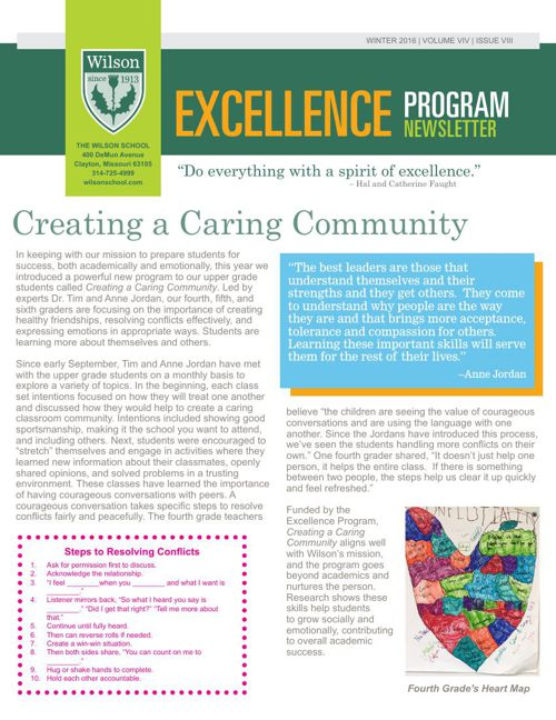 January 2016 Excellence Newsletter