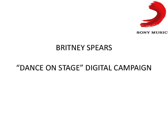 Digital Campaign - Britney Spears - November 2011