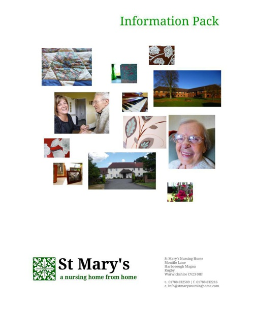 St Mary's Nursing Home Information Pack [1]