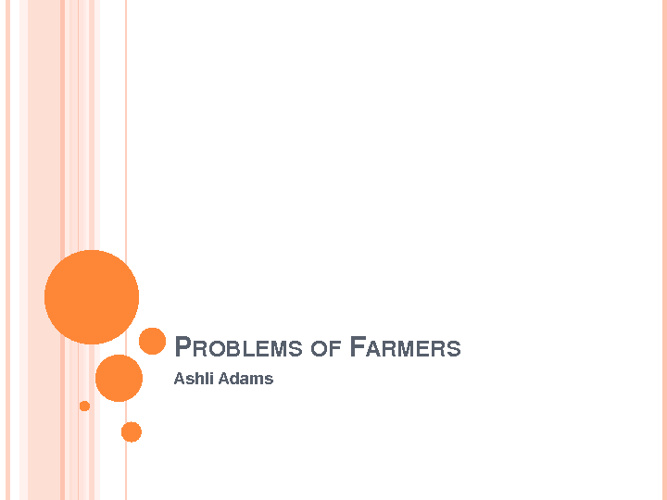Problems of Farmers