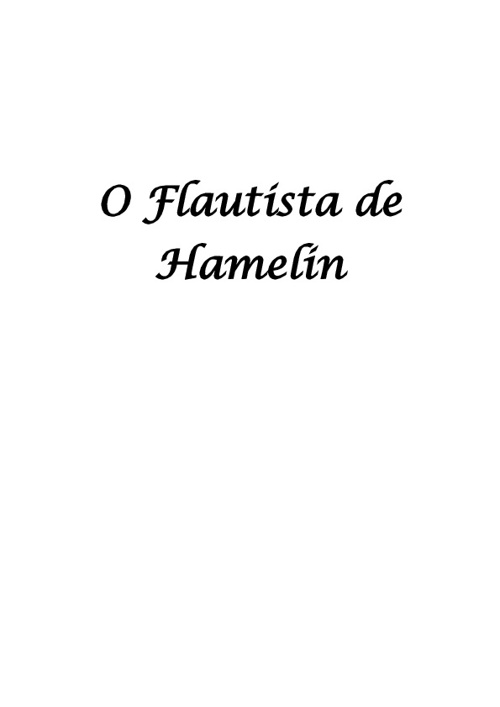 o Flautista Hamelin