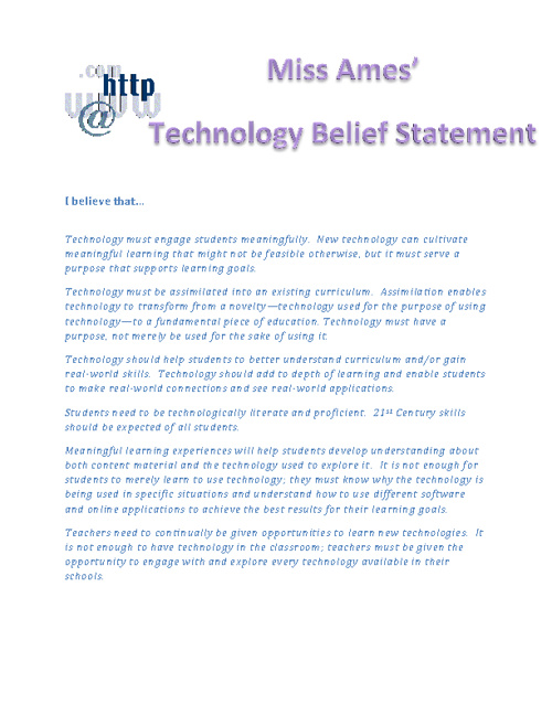 Technology Belief Statement