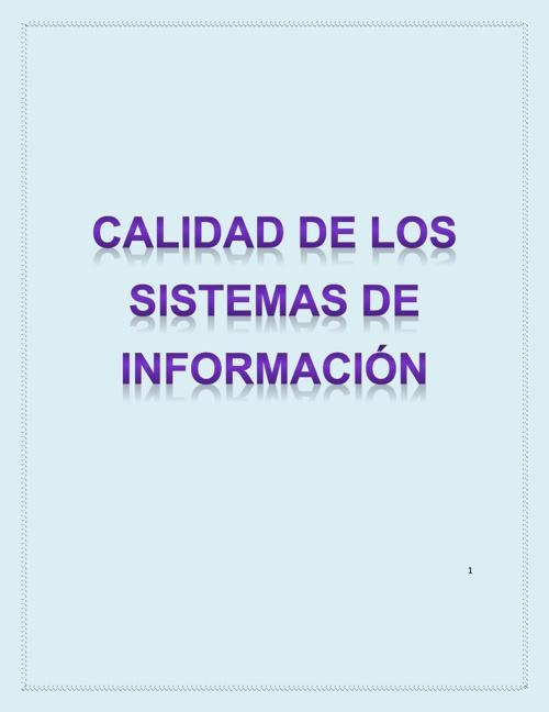 Libro Calidad De la Información