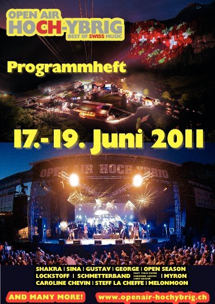 Programmheft OAHY 2011 mit ganzseitigen Inseraten Im Anhang