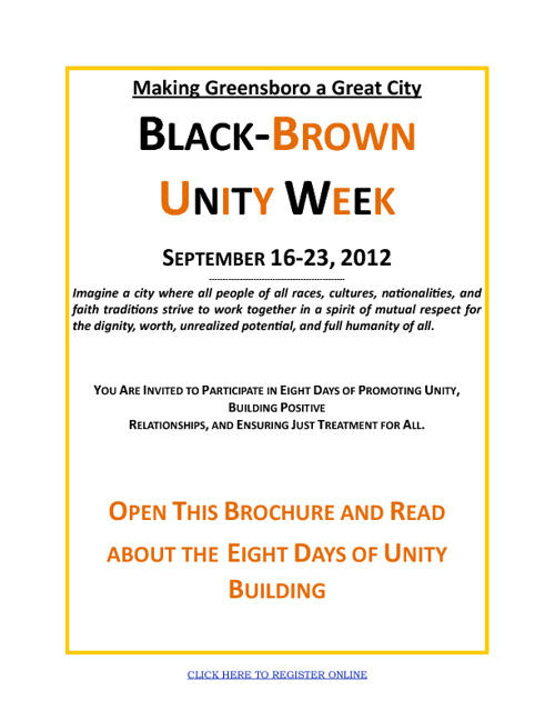 Black/Brown Unity Week Program