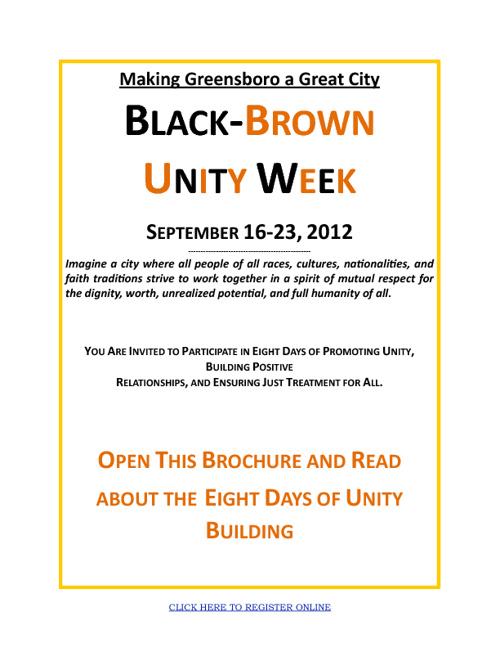 Black/Brown Unity Week Program