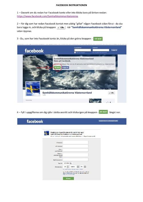 Skapa Facebook och använda Filesnack