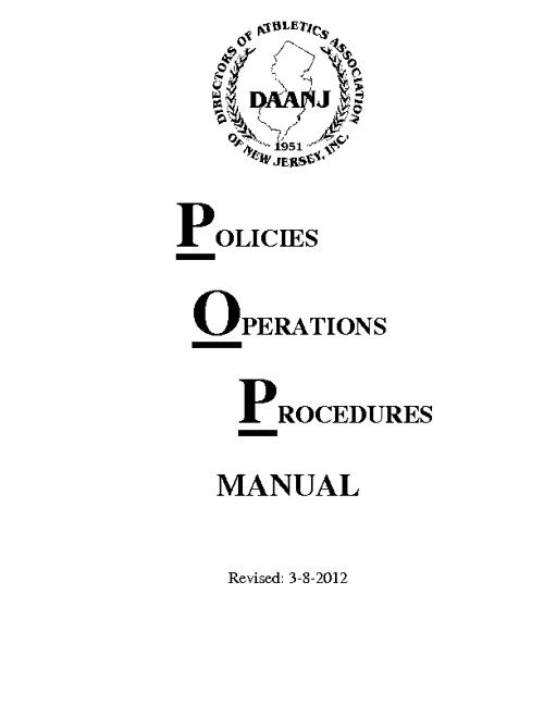 DAANJ Operations Manuel
