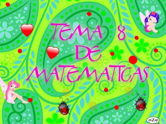 TEMA 8 DE MATEMÁTICAS