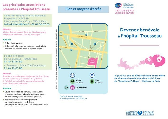 Devenez bénévole à l'hôpital Trousseau