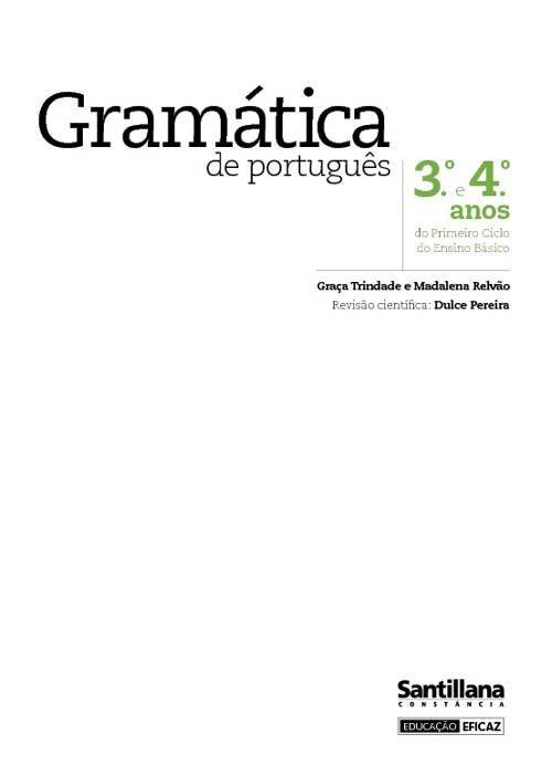 Gramática 1.º ciclo 3.ºe 4.º anos