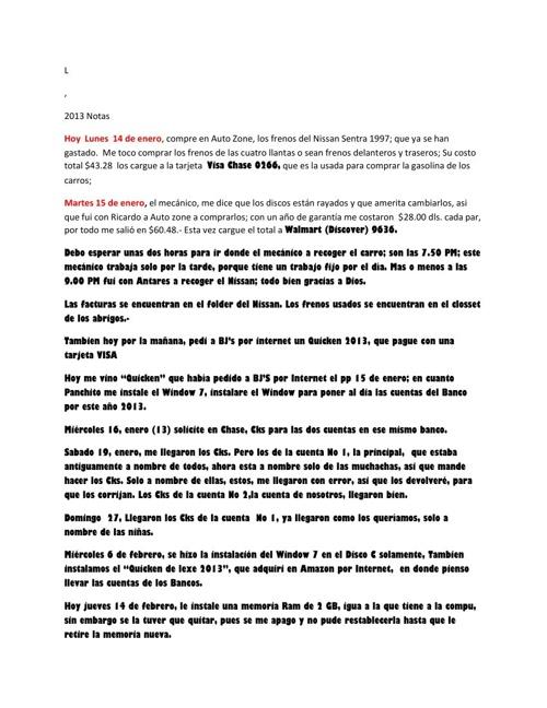 Diario Notas 2013