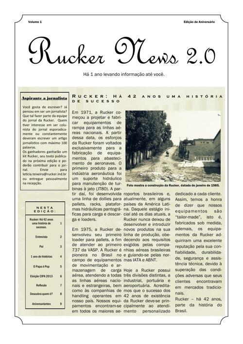 Rucker News - Edição Especial