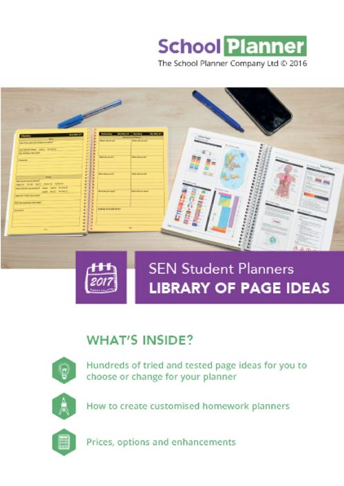 The School Planner Company SEN Library 2017-18