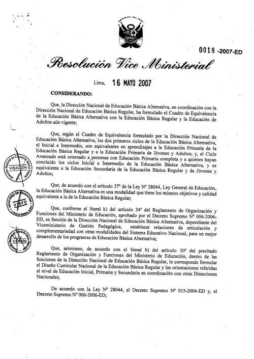 TABLA DE EQUIVALENCIA EBA / EBR
