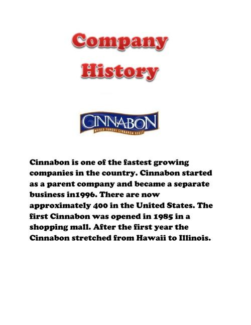 Cinnabon Franchise