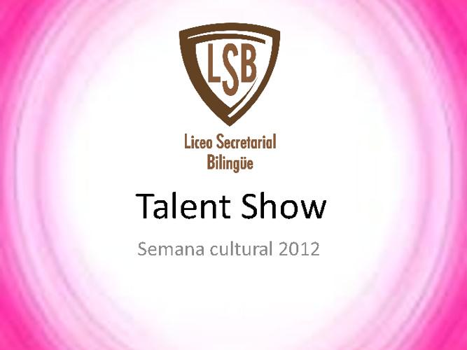 Talent show LSB