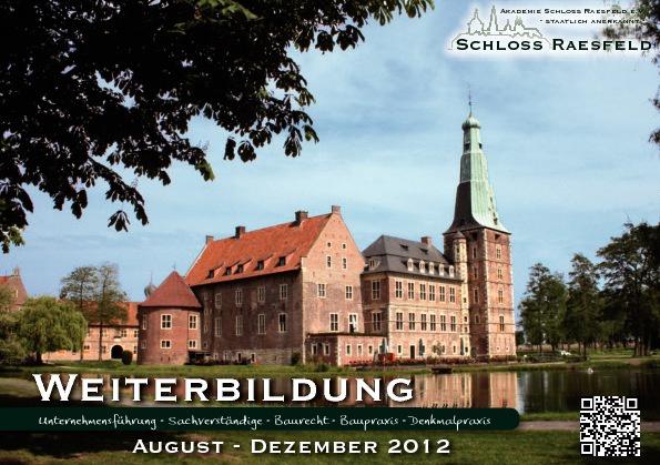 Akademie Schloss Raesfeld Programm II-2012