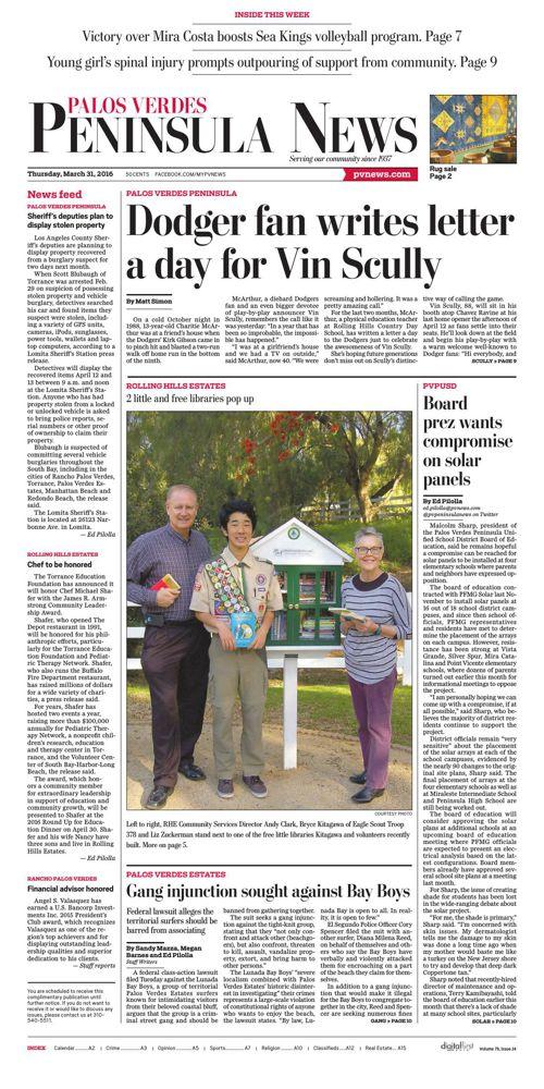 Peninsula News | March 31, 2016