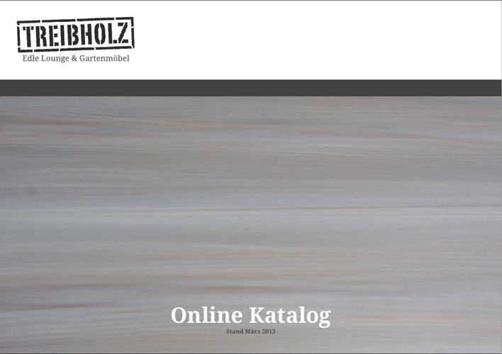 TREIBHOLZ Gartenmöbel Online Katalog 2013