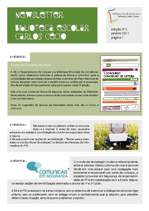 Newsletter - Janeiro