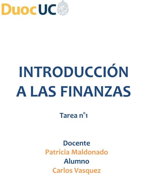 tarea finanzas duoc