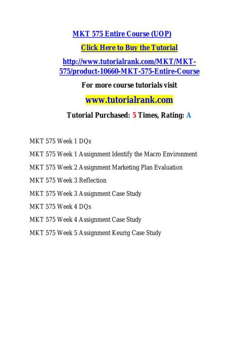 MKT 575 learning consultant - tutorialrank.com