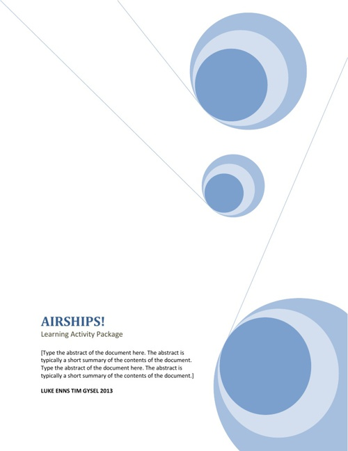 Airships! by Luke E and Tim G